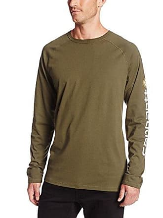 Carhartt Work in Progress Mens Force Cotton Delmont Sleeve Graphic T-Shirt,Moss,X-Large