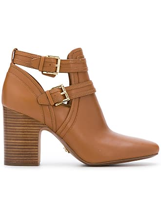 Michael Michael Kors Ankle boot Blazer de couro - Marrom