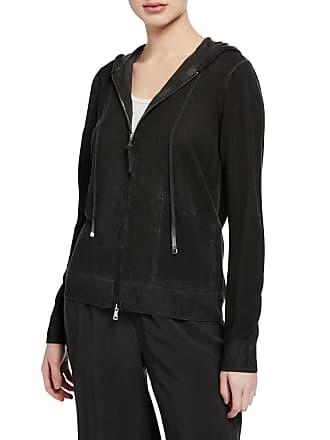 Neiman Marcus Vintage Wash Long-Sleeve Hoodie Jacket