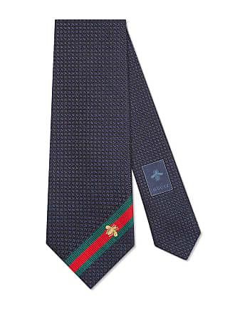 Gucci Cravatta in seta con dettaglio Web e ape 503bd306bfa7