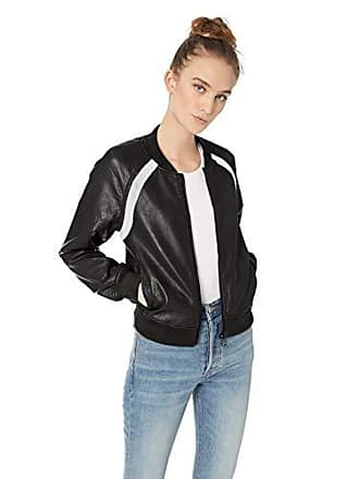 Joe's Womens Paola Bomber, Black, XS