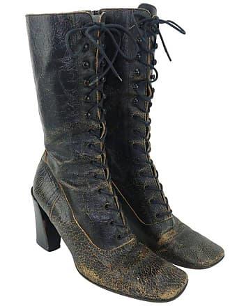 7748959939a9 Miu Miu Miu Miu Distressed Brown Leather Lace Up Boots