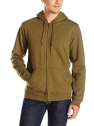 Levi's Mens Chaffee Long Sleeve Sherpa Lined Fleece Zip Front, Olive, Large