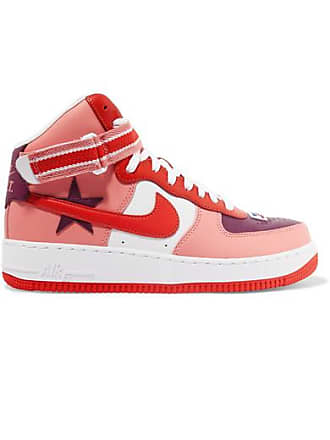 347b9ab526f65 Nike Baskets Montantes En Cuir Air Force 1 Par Riccardo Tisci - Violet