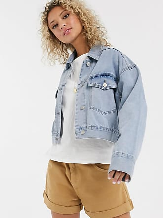 Urban Bliss denim jacket in bleach wash-Blue