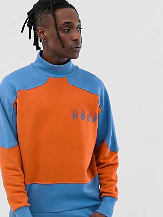 Noak oversized sweatshirt with deep neck and cut and sew - Orange