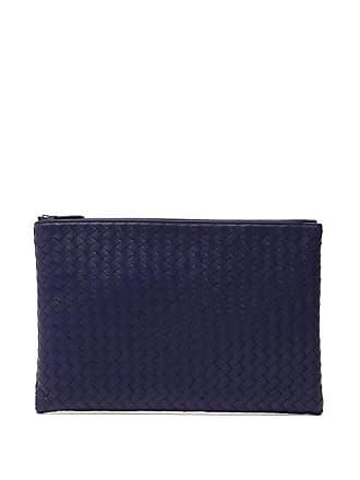 Bottega Veneta Intrecciato Leather Pouch - Mens - Navy