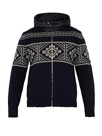 8f682bc828e38 Ralph Lauren Purple Label Veste en laine mélangée zippée ...