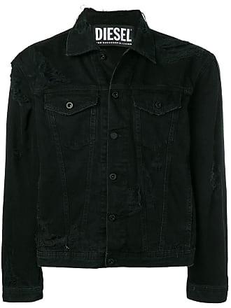 Diesel distressed denim jacket - Preto