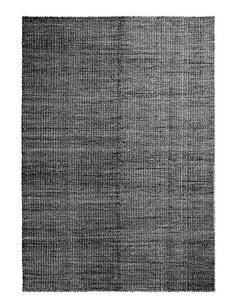 HAY Moiré Kelim Teppich 300x200cm - schwarz/LxB 300x200cm