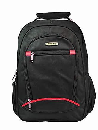 Yin's Mochila p/Notebook Masculina Alça Reforçada Preta e Vermelha CO50001