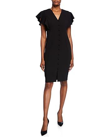Iconic American Designer Button-Front Sheath Dress