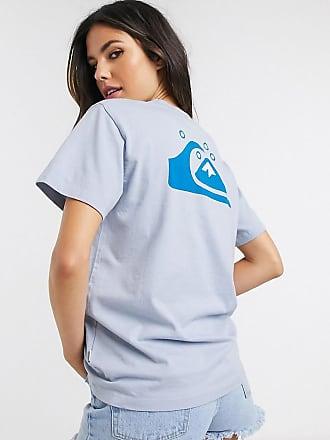 Quiksilver Standard - T-shirt blu con stampa sul retro - In esclusiva per ASOS