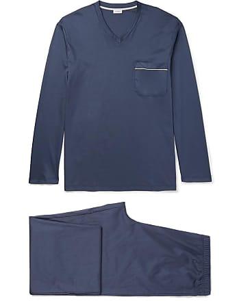 Zimmerli Mercerised Cotton-jersey Pyjama Set - Navy