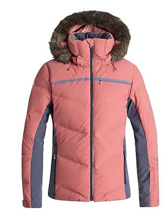 Roxy Doudoune à capuche amovible effet fourrure duvet et plume Snowstorm  Rose Roxy ad305fba45e