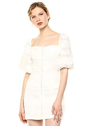 ccf5d6ab4535f C/Meo Collective Womens Solitude Puff Sleeve Fitted Mini Dress, Ivory, M