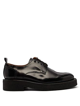 Ami Ami - Exaggerated Sole Leather Derby Shoes - Mens - Black