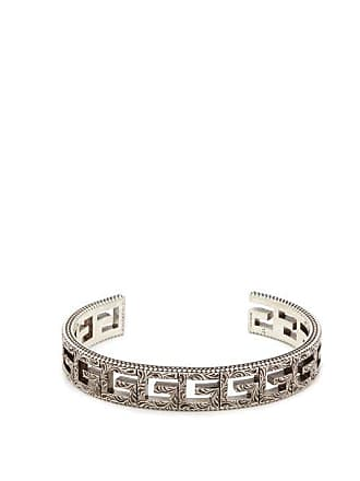 3a9bb4b6b Gucci Square G Sterling Silver Cuff Bracelet - Mens - Silver