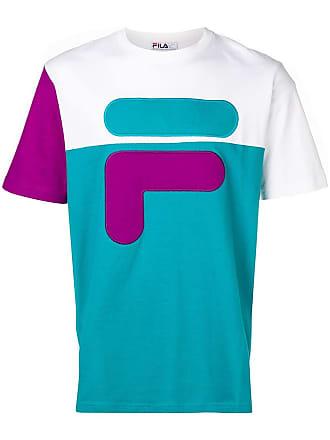 Fila colour block logo T-shirt - Blue
