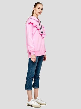 Msgm sweatshirt with hood and rouches