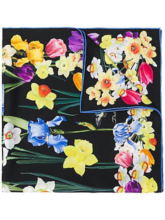 Dolce & Gabbana Echarpe de seda floral - Preto