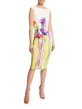 ed56798b30542 La Petite Robe Di Chiara Boni Purity Print Boat-Neck Cap-Sleeve Sheath Dress
