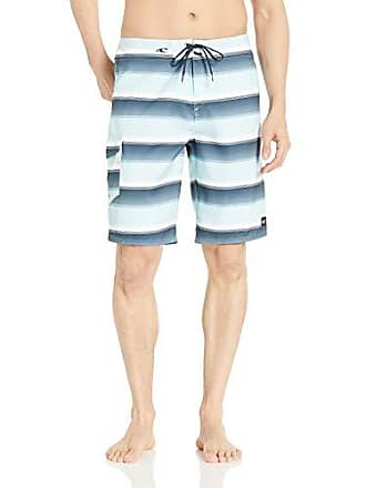 O'Neill Mens 21 Inch Outseam Ultrasuede Swim Boardshort, air Blue/Santa Cruz Stripe, 44