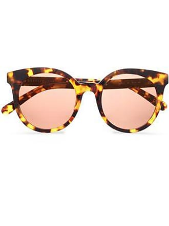 a35ea88601a6 Stella McCartney Stella Mccartney Woman Havana Round-frame  Chain-embellished Tortoiseshell Acetate Sunglasses Brown