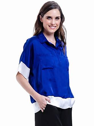 101 Resort Wear Camisa 101 Resort Wear Polo Bicolor Azul Branco