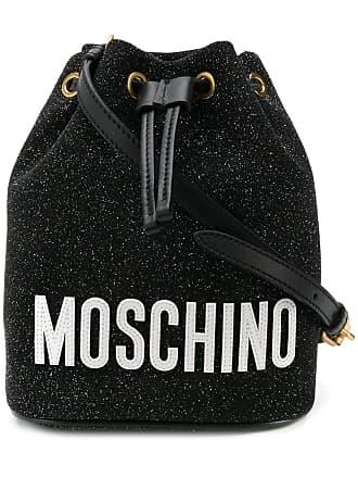 Moschino glitter bucket bag - Black