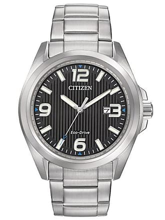 Zales Mens Citizen Eco-Drive Watch with Black Dial (Model: Aw1430-86E)