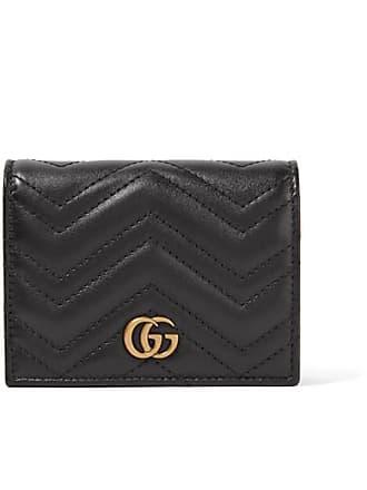 38cd916e29a Gucci Portefeuille En Cuir Matelassé Gg Marmont Small - Noir