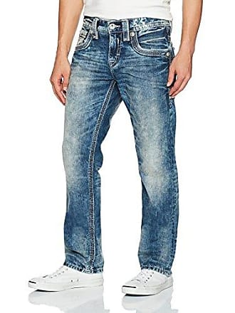 Rock Revival Mens Rumo J405, Acid Blue, 42