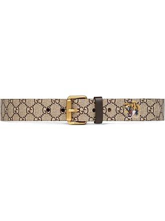 b40e149bd26 Gucci Tiger print GG Supreme belt - Brown