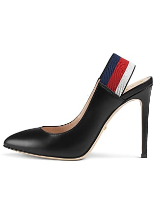 1ec7704ae Gucci Sylvie Leather Web Slingback Pumps