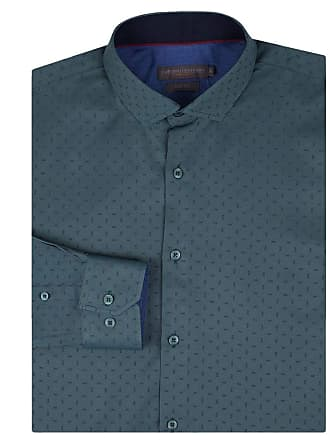 Colombo Camisa Social Masculina Azul Escuro Detalhada 50133 Colombo