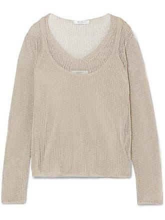 07ff64e992e Max Mara Layered Cotton-blend Lurex Sweater - Beige
