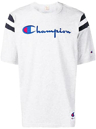 Champion embroidered logo T-shirt - Grey