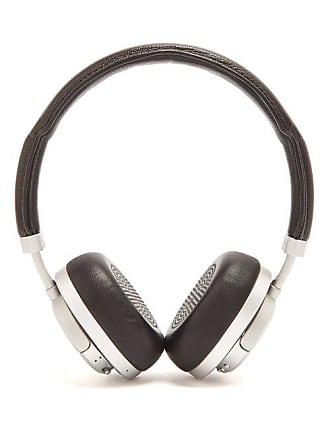 Master & Dynamic Mw50 Leather On Ear Wireless Headphones - Mens - Black Silver