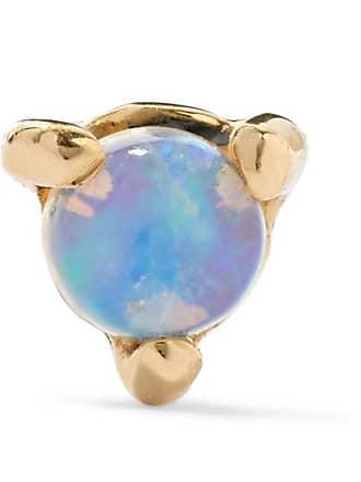 Wwake Gold Opal Earring - Blue