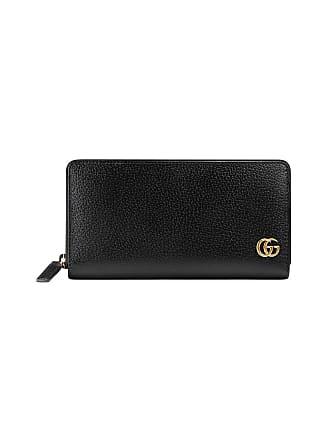 31c553f58514 Gucci GG Marmont leather zip around wallet - Black