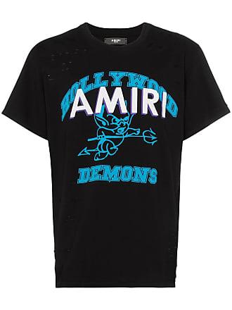 Amiri print perforated detail T-shirt - Black