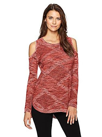 Democracy Womens L s High Low Sweater with Cold Shoulder 2b53983b2