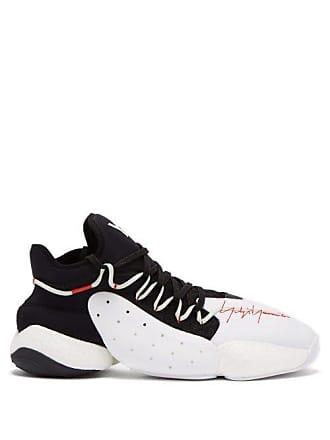 Yohji Yamamoto Byw Basketball Neoprene And Leather Trainers - Mens - Black