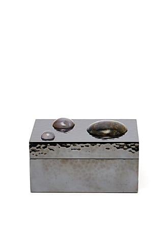 Bottega Veneta Crystal-embellished Sterling-silver Box - Silver