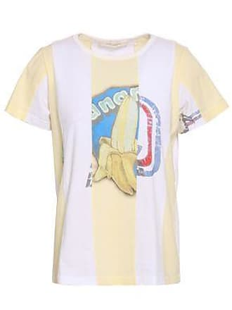 2f4f1b6d Marc Jacobs Marc Jacobs Woman Printed Cotton-jersey T-shirt Pastel Yellow Size  XS