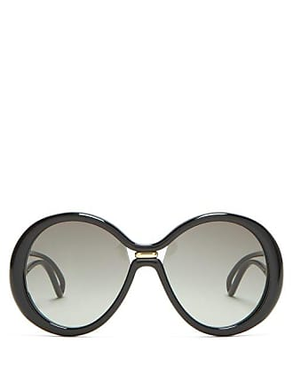 Givenchy Oversized Round Frame Acetate Sunglasses - Womens - Black
