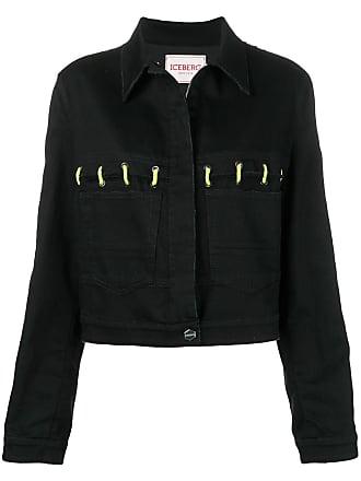 Iceberg neon lace-up jacket - Black