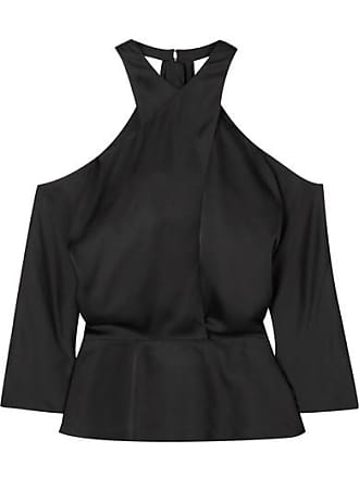 SAFiYAA Satin Halterneck Top - Black