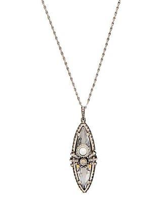 ad10a1628da6 Alexander McQueen Collier à pendentif araignée en cristaux et perles